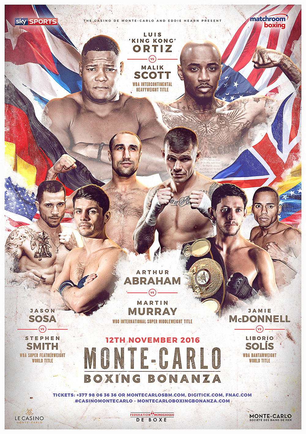 poster for monte carlo boxing bonanza