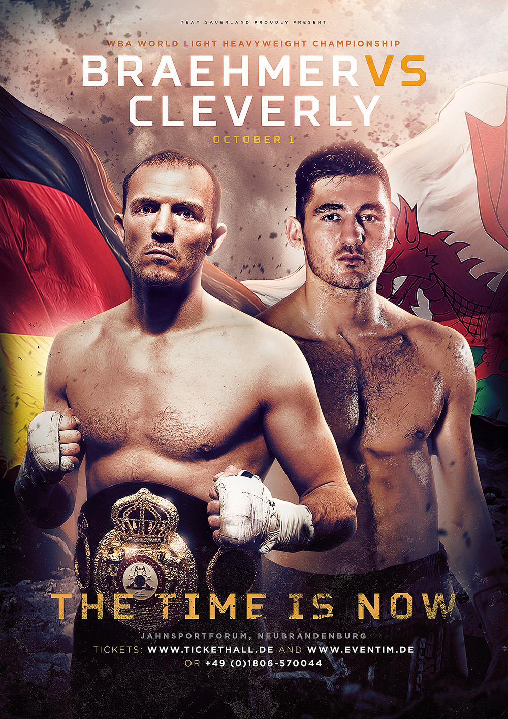 poster for the time is now - nathan cleverly vs juergen braehmer