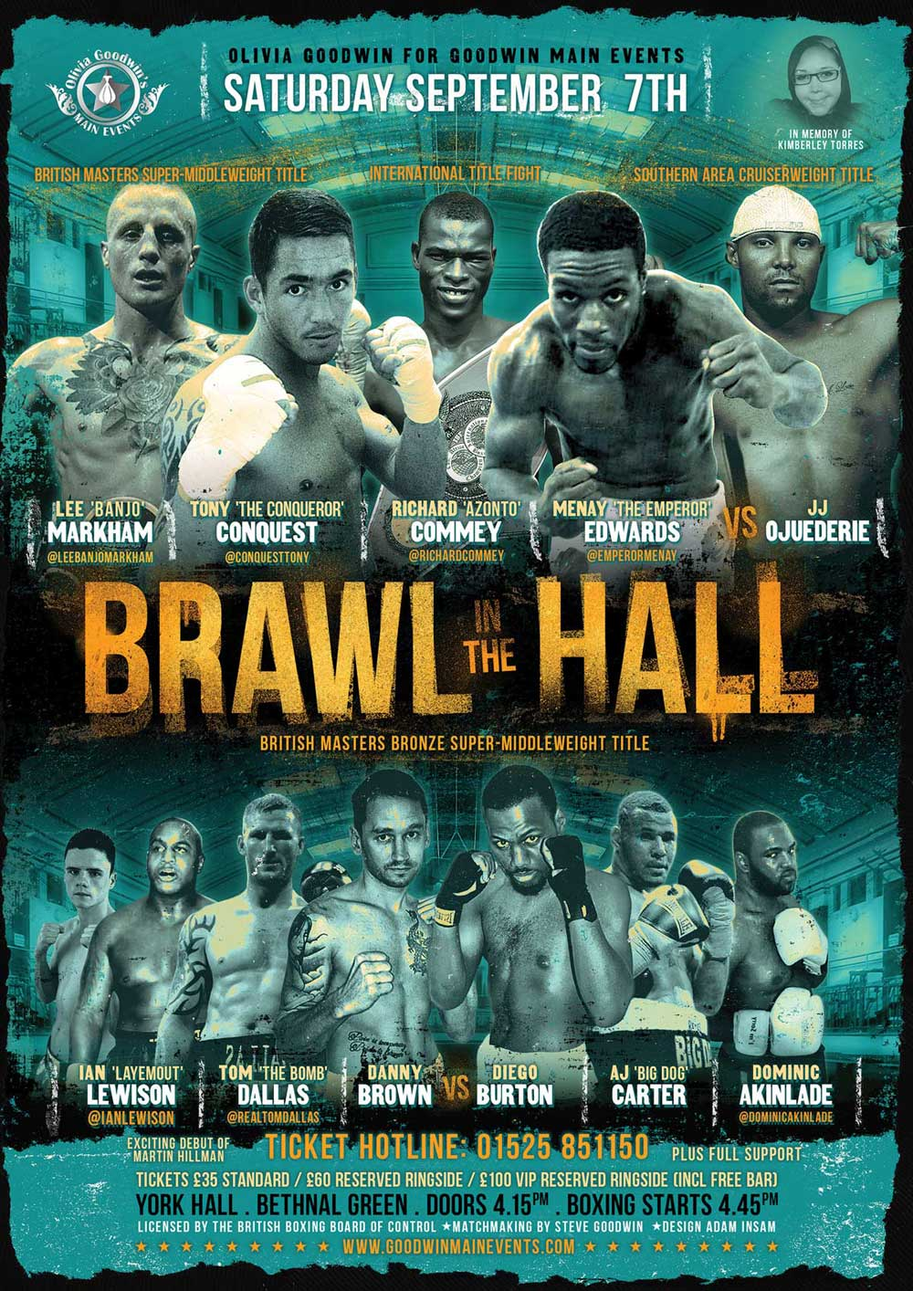 Brawl in the hall boxing poster design