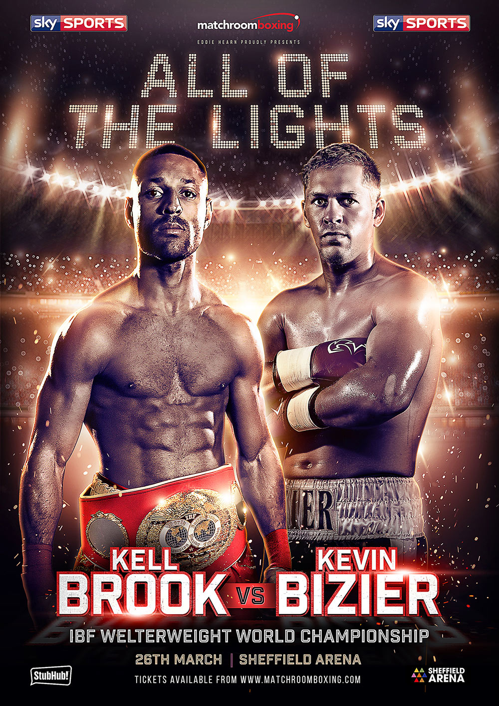all of the lights kell brook sheffield boxing poster design