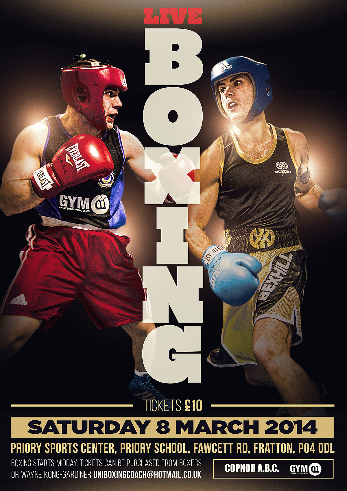 boxing poster design