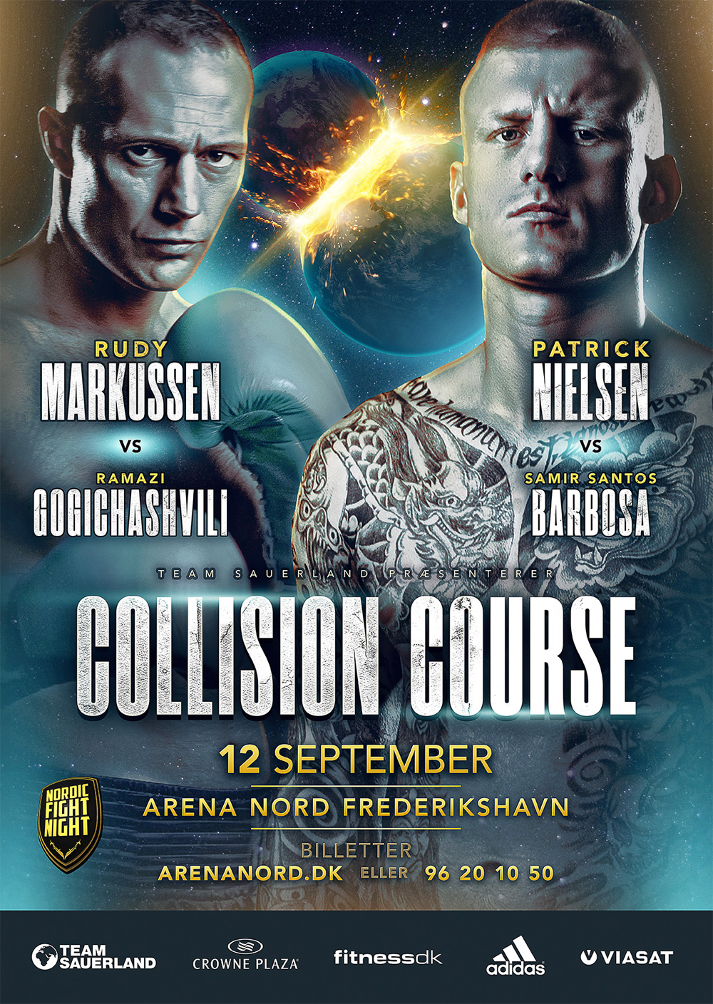 collision course boxing poster design