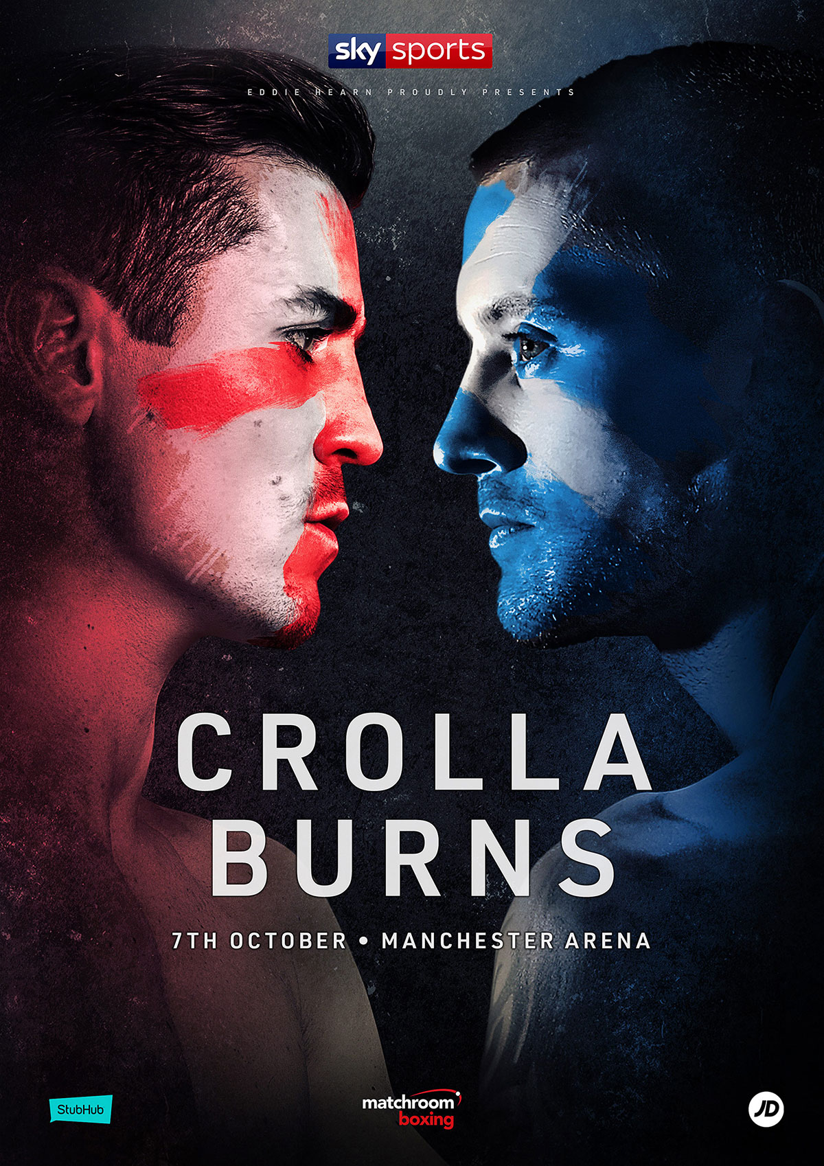 poster for Manchester's Ant Crolla's fight against Scotland's Ricky Burns