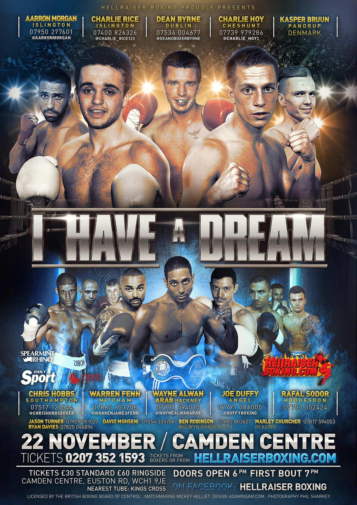 dream boxing poster design