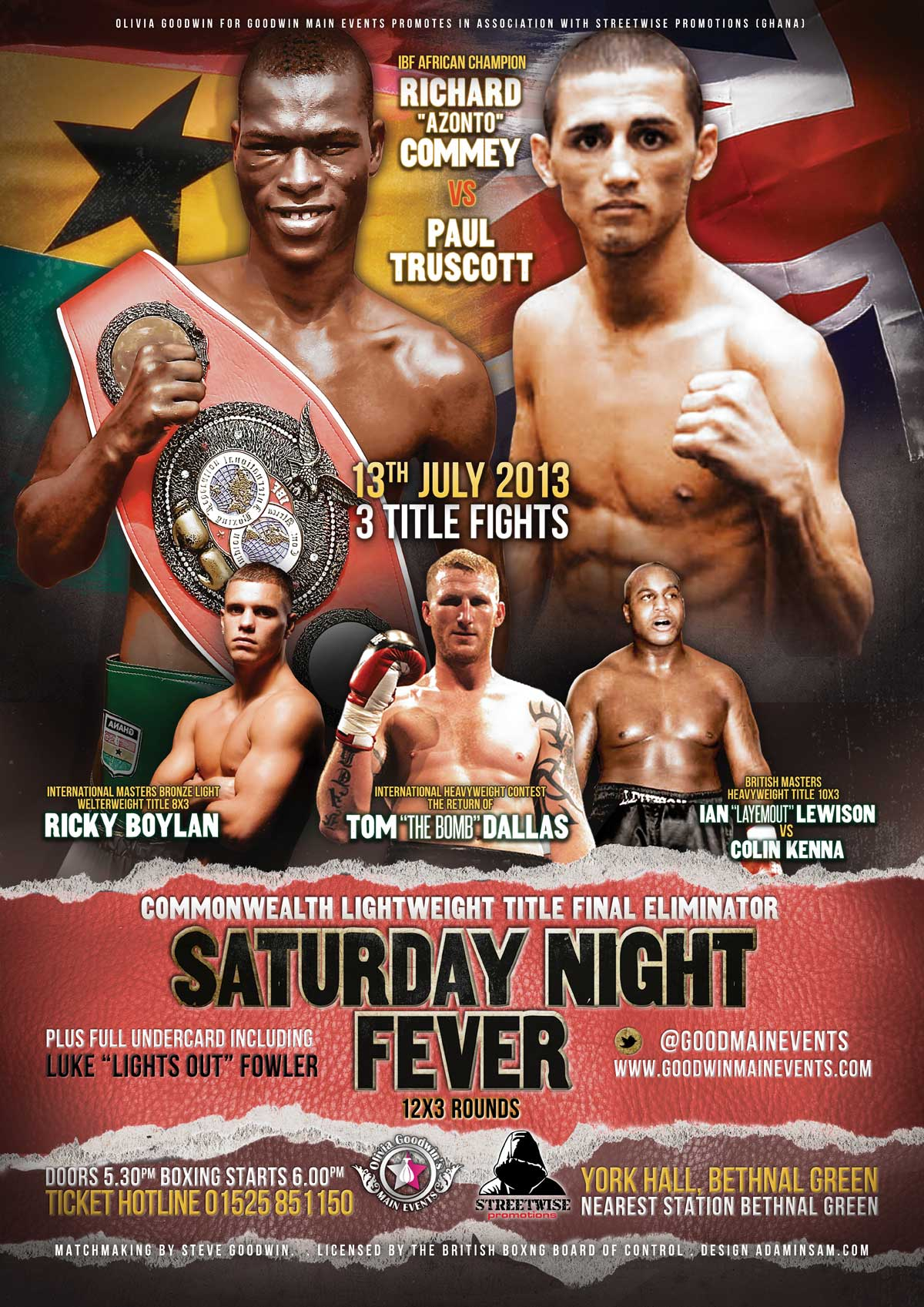 fever boxing poster design