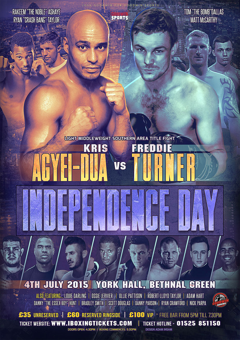 independence day boxing poster design