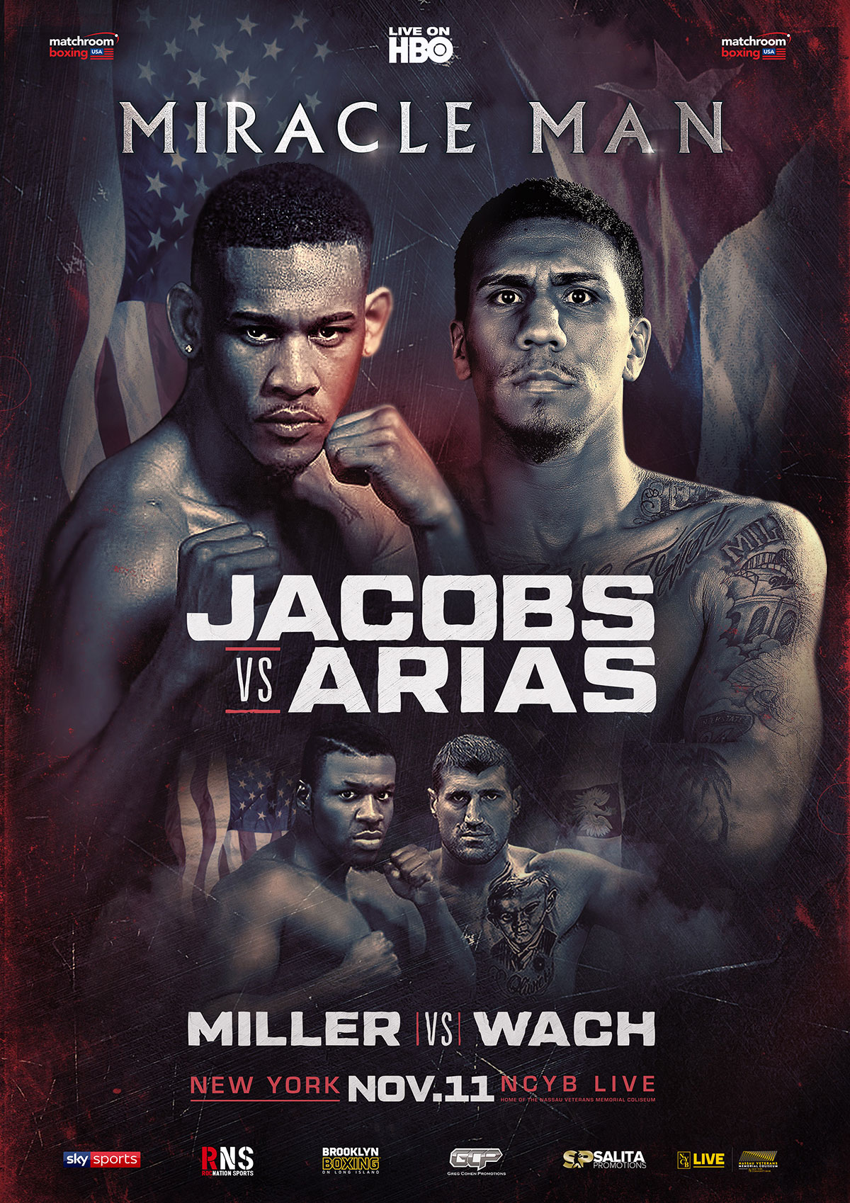 poster for Brooklyn's Daniel Jacobs fight against Luis Arias in New York