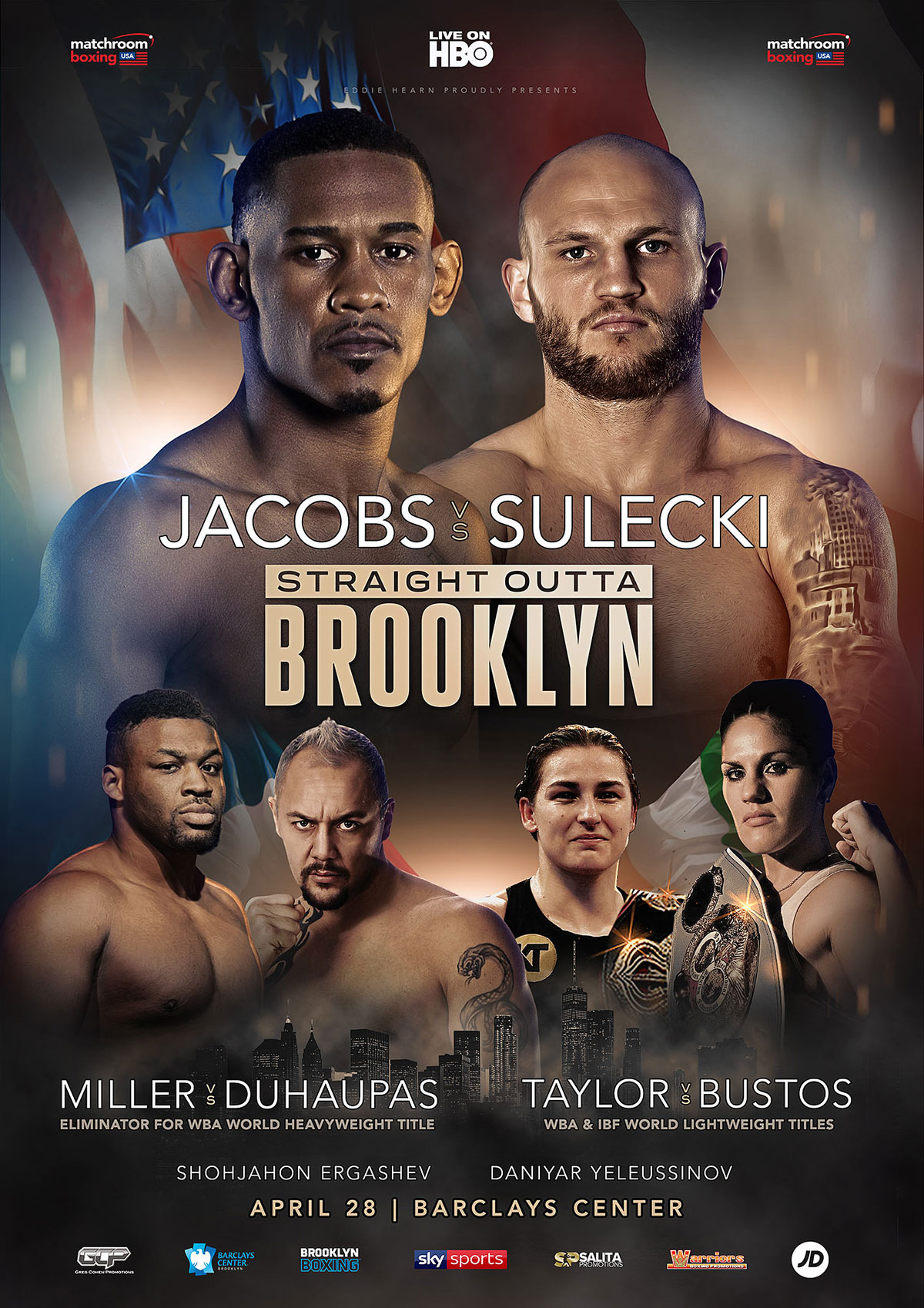 fight artwork for Jacobs vs Sulecki in Brooklyn, NY
