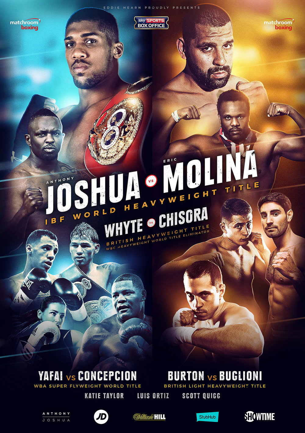 poster for anthony joshua's ibf heavyweight title defence against eric molina