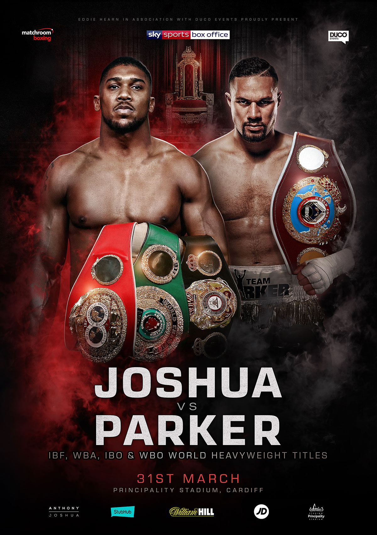poster Joshua vs Parker 'the Road to Unification'