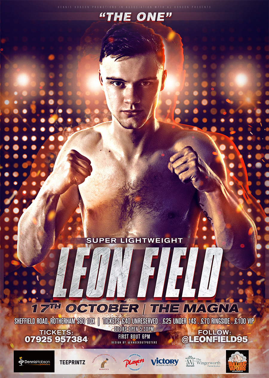 sheffield leon field boxing poster design