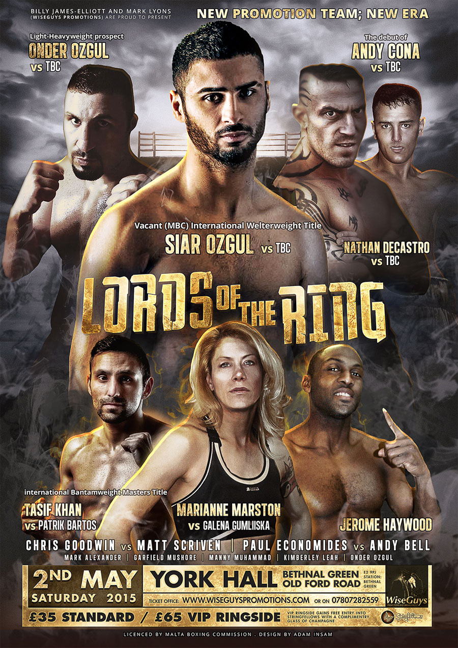 boxing poster for lords of the ring