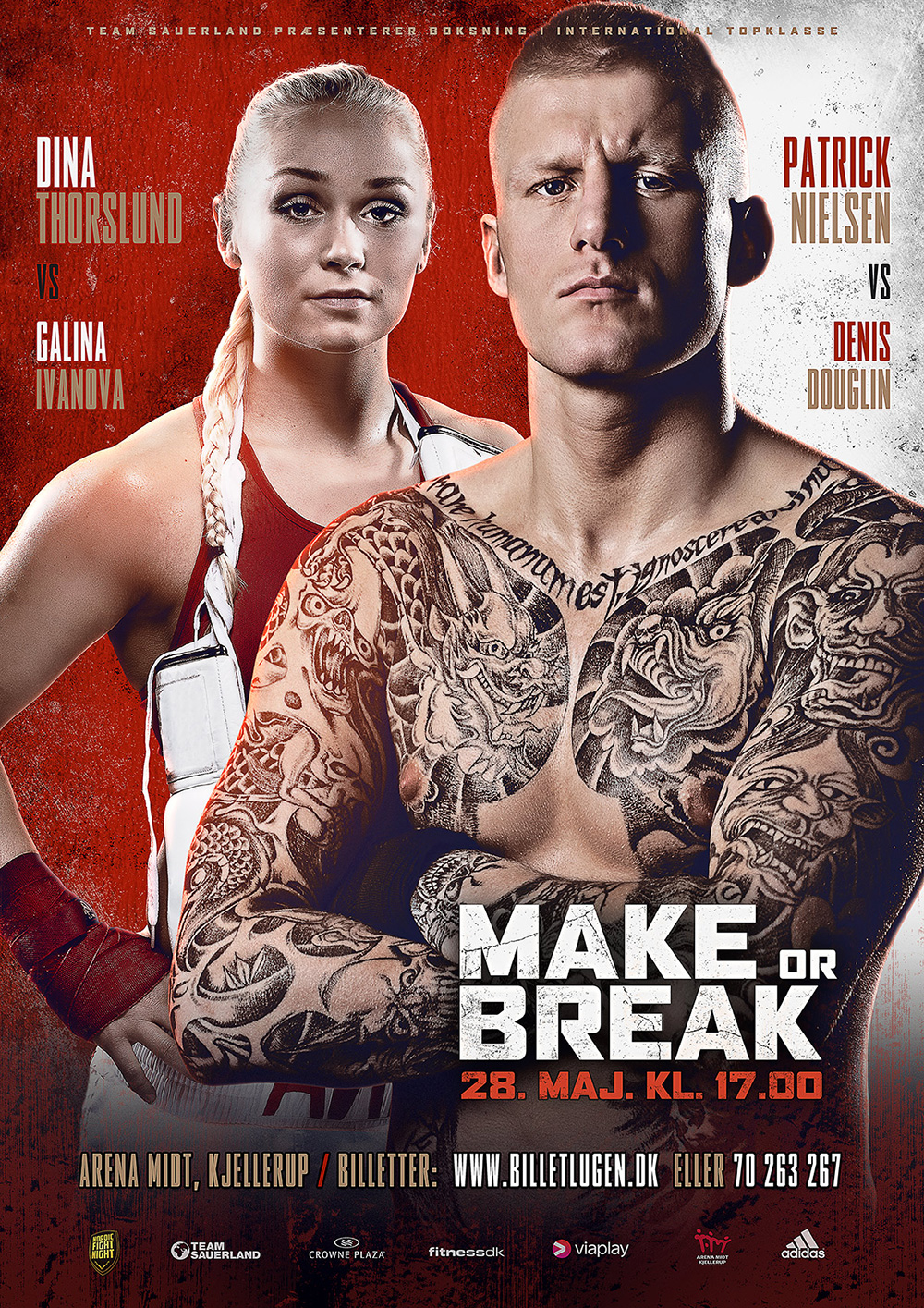 danish fighter patrick nielsen and dina thorslund fight poster
