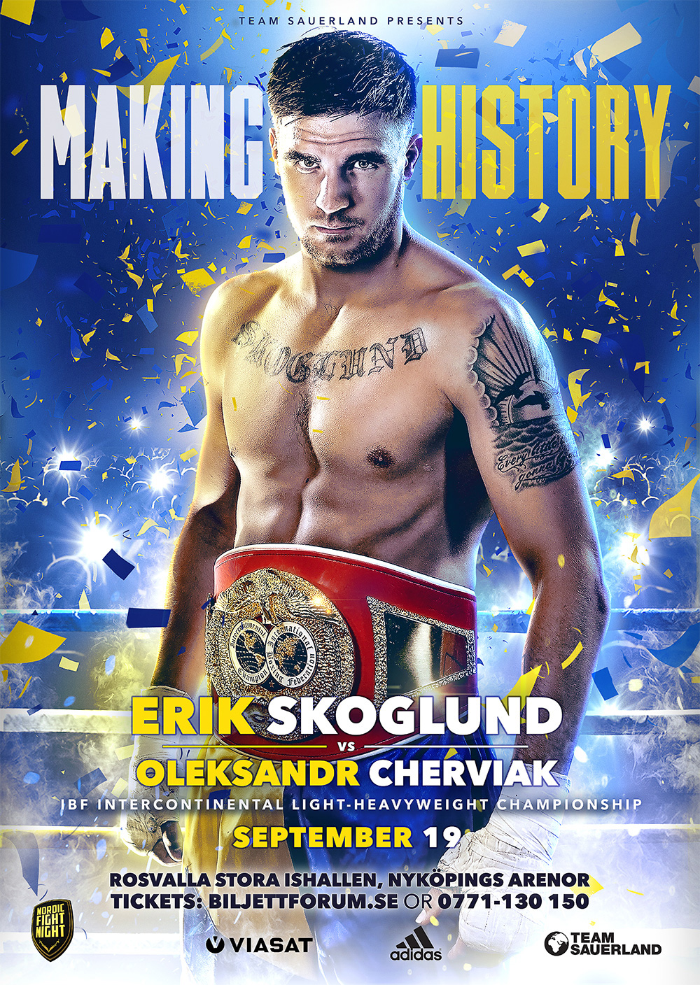 making history boxing poster design
