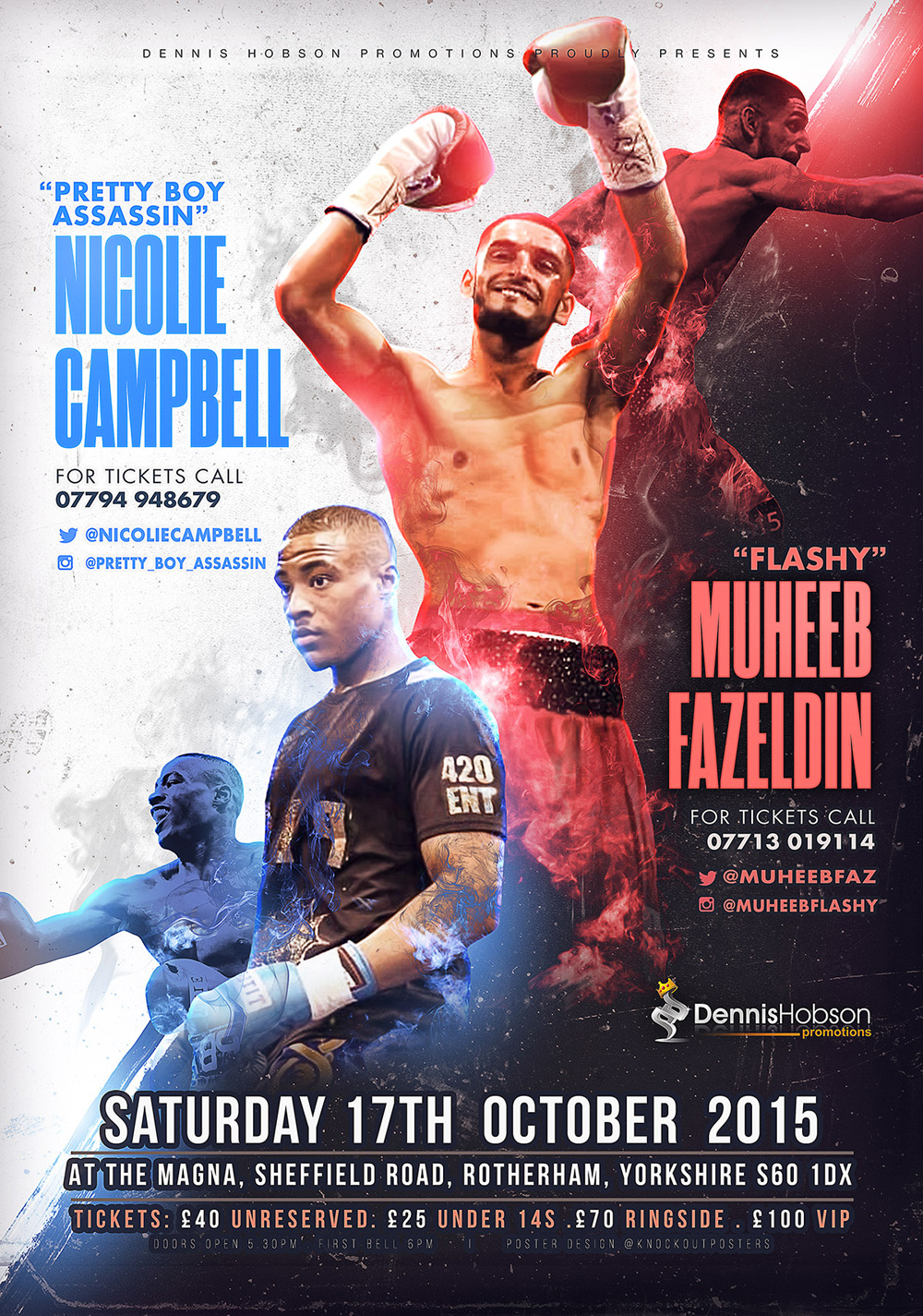 sheffield muheeb boxing poster design