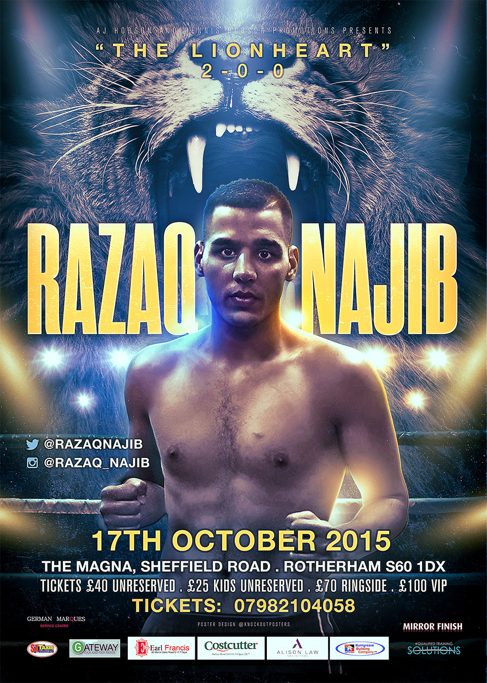 sheffield razaq boxing poster design