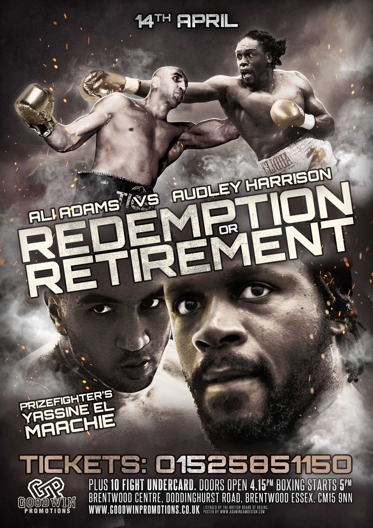 redemption boxing poster design