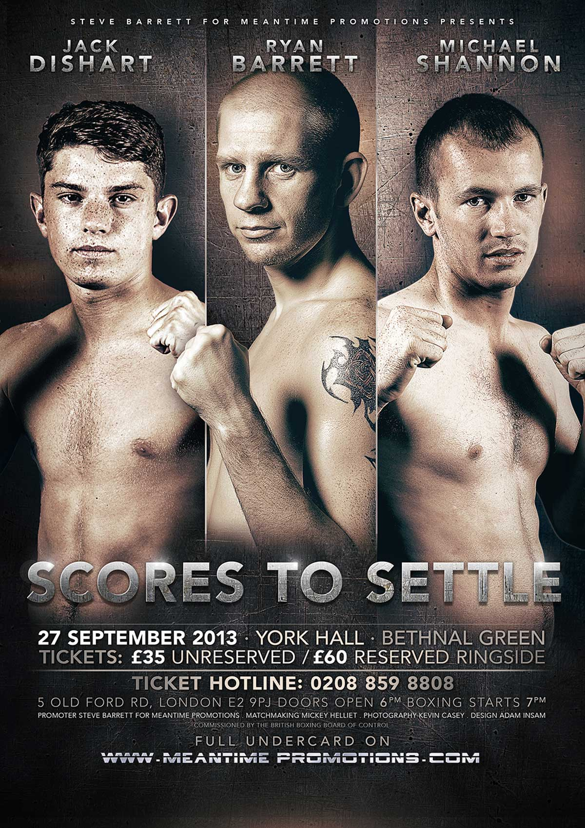 scores boxing poster design