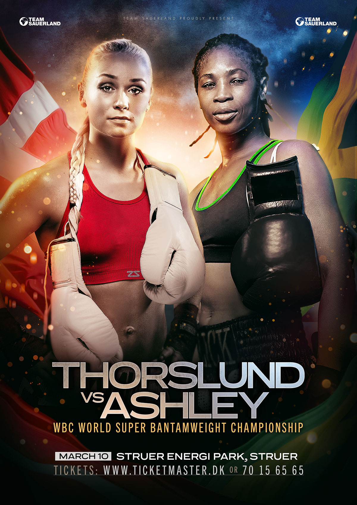 poster for women's boxing contest in Denmark