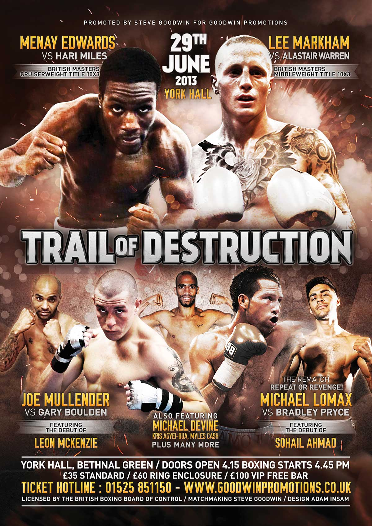 trail boxing poster design