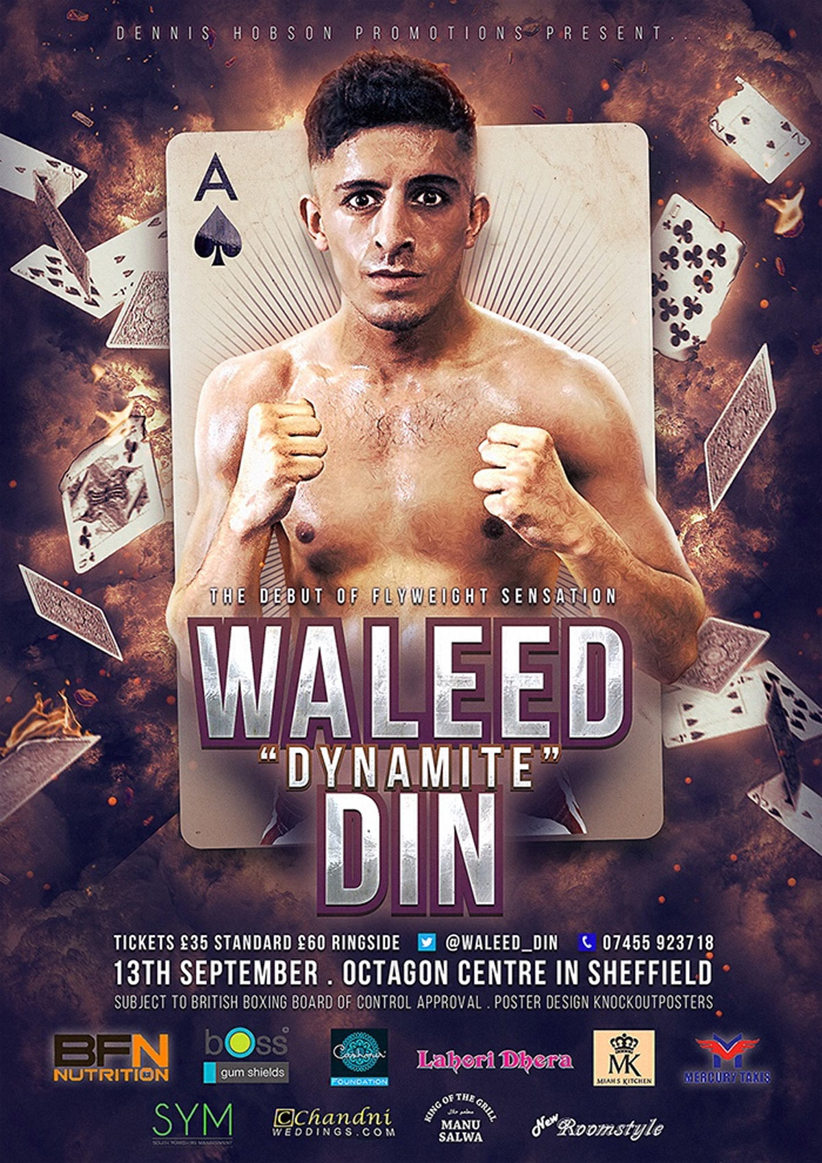 waleed mike boxing poster design