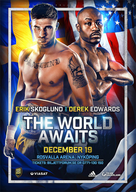 the world awaits boxing poster design